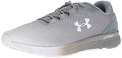 Under Armour Men's Charged Bandit 4 Running Shoe, Steel (107)/White, 7