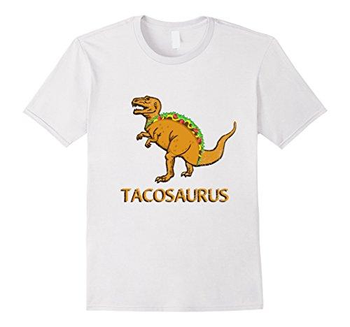 [Men's Tacosaurus Cinco de Mayo Shirt Women Men Girls Boys T Rex Medium White] (Pun Costumes For Guys)