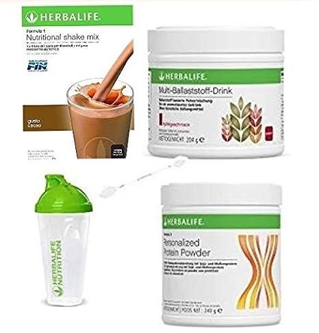 Herbalife Quick Combo Formula 1 Shake Smooth Chocolate (550 g), proteína en polvo, multifibra en polvo, cuchara y coctelera: Amazon.es: Industria, empresas y ciencia