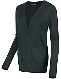 Women's Long Sleeve Button Down Basic Cardigan Sweater