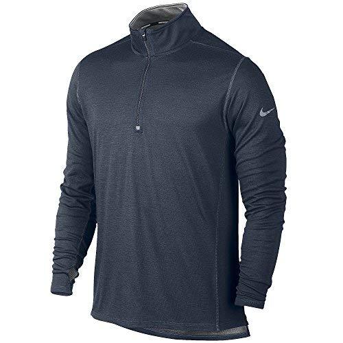 Nike Mens Dri-Fit Wool Half-Zip Long Sleeve Running Shirt Grey 746786-084 (X-Large)