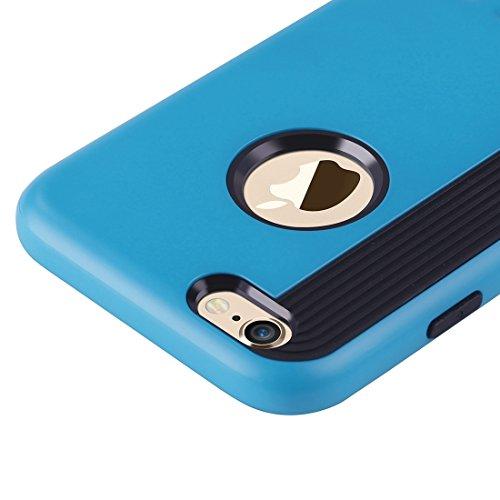Phone Taschen & Schalen Für iPhone 6 Plus & 6s Plus Cookies Patterns Dual-Layer Tough Armor TPU + PC Kombi-Gehäuse ( Color : Blue )