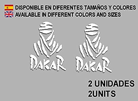 Ecoshirt JS-S272-ZYF2 Pegatinas Dakar F68 Vinilo Adesivi Decal Aufkleber Клей MTB Stickers Bike, Blanco: Amazon.es: Coche y moto