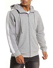 MAGCOMSEN Men's Hoodie Full Zip Sweatshirts Cotton Spring Fall Jacket with Pockets