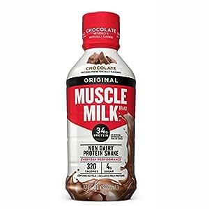 Muscle Milk Genuine Protein Shake, Chocolate, 34g Protein, 17 FL OZ (Pack of 12)