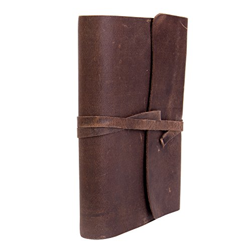- Genuine Leather Journal, Beautifully Handmade with Antique Style Vintage Brown Leather. Great for Work, Travel, or Daily Journaling. Perfect Gift for Men or Women (5x7)