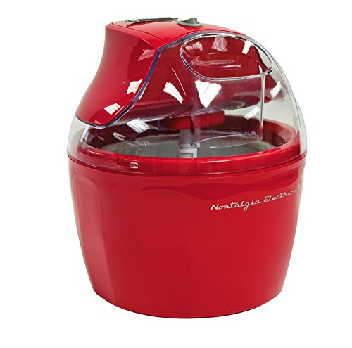 Nostalgia ICM150RETRORED 1.5-Quart Retro Series Electric Ice Cream Maker with Ingredient Chute (Ice Cream Ingredients compare prices)