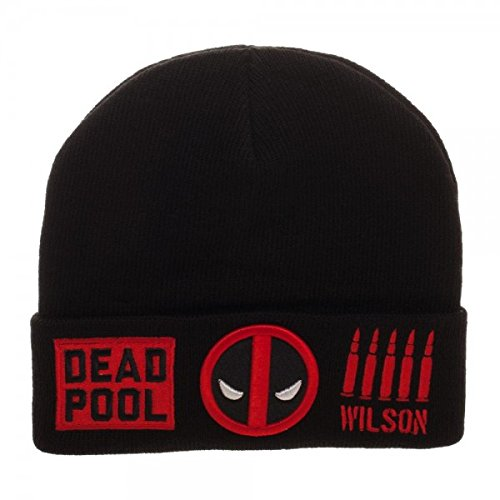 Deadpool Wilson Logo Bullets Soft Knit Winter Beanie Hat