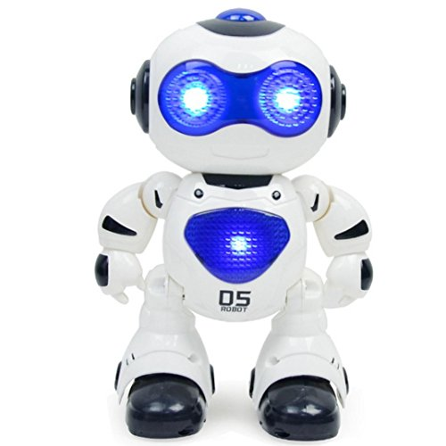 Esharing Fun Robot Toys For Kids,Electronic Walking Dancing Music Light Smart Astronaut Style Children Toy Gifts (White) from Esharing
