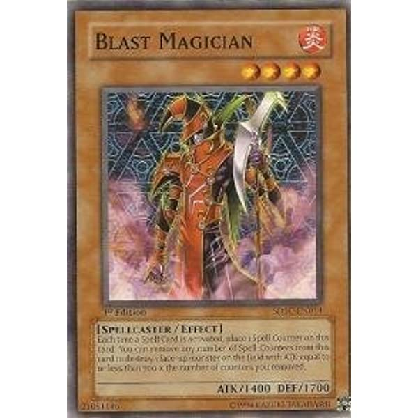 1st Edition x3 Lightly Played Common Blast Magician SD6-EN014
