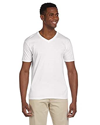 Gildan mens platinum underwear v neck top pack of 4 at for Gildan v neck t shirts for men