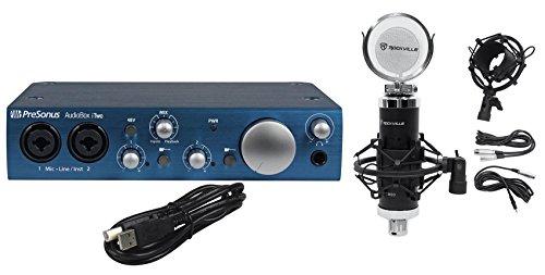 Presonus Audiobox iTwo 2X2 USB Recording Interface+Studio Mic+Shock Mount+Filter ()