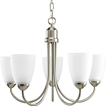 progress lighting gather collection light chandelier brushed nickel 5