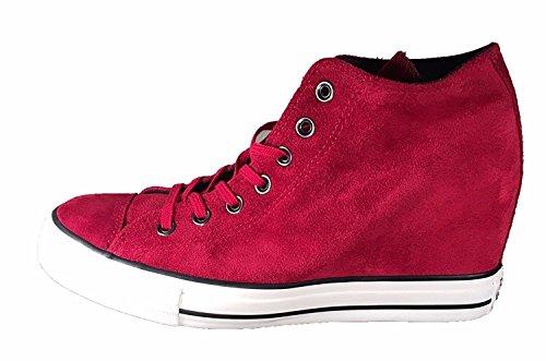 Converse Womens Lux Mid Top Zeppa Scarpe Da Skate Dahlia / Nero / Garzetta