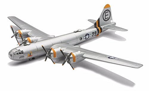 Scale Airplane Replica (New 1:48 NEW RAY CLASSIC WWII - BOMBERS TRANSPORTER PLANES MODEL KITS SILVER B-29 SUPERFORTRESS Diecast Model By NEW RAY TOYS)