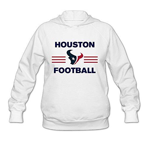 SAMMOI Houston Taem Texans Women's Fleece Sweatshirt S White
