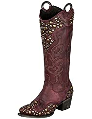 Lane Western Boots Women Double D Ranch Peralta Charcoal DD9026A