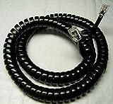 Black Medium Length (12' Ft) Handset Cord for AT-T Phone 843 854 944 952 954 955 964 982 992 993 1040 1070 1080 ML17928 ML17929 ML17939 1 2 4 Line Trimline Princess Curly Coil by DIY-BizPhones