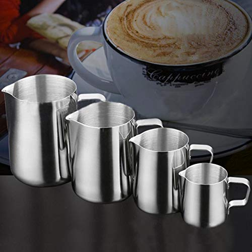 Milk Jugs - Stainless Steel Frothing Pitcher Pull Flower Cup Cappuccino Coffee Milk Mugs Milk Frothers & Latte Art - Cups Machine Cupcake Mug Stainless Frother Maker