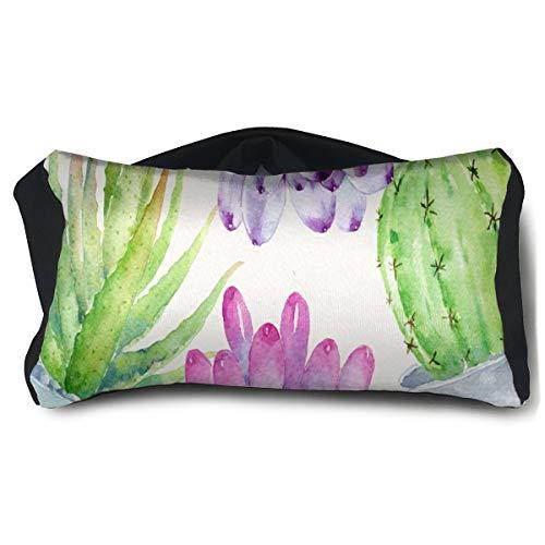 Eye Pillow Watercolor Succulent Pots Hot Eye Bag Bed Mens Portable Blindfold Train Sleep Protection -