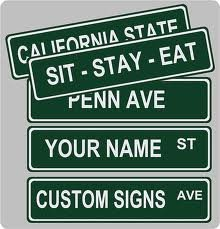 Amazoncom Custom Street Sign 4x18 Aluminum Yard Signs