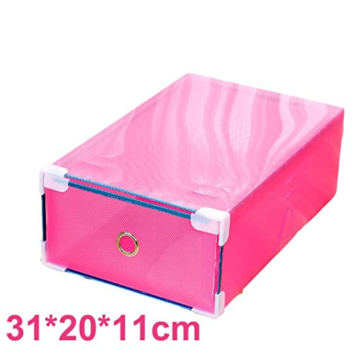 Shoe Organiser, Gillberry 1PC Foldable Clear Plastic Shoe Box Drawer Stackable Storage (Stackable Ashtray)