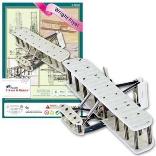 CALEBOU 3D PUZZLES The Wright Flyer Wright Brothers Kitty Hawk Plane 3 D Model Kit