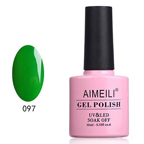 AIMEILI Soak Off UV LED Gel Nail Polish - Candy Green Castle (097) 10ml