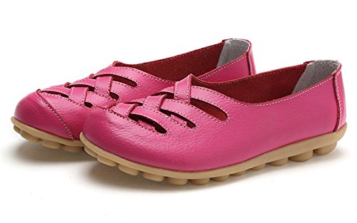 VenusCelia Damen Comfort Walking Casual Flacher Loafer Fushia / Rosiness