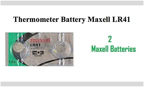 Thermometer Battery LR41 392 L736 GP192 AG3 SR41 192 1.5 V Coin Button Cell Battery for Thermometers 2 Pack