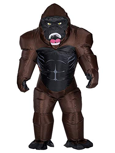 Seasonblow Inflatable Gorilla Costume Body Suit Halloween Costumes Party for Mens & Womens Adult Size -