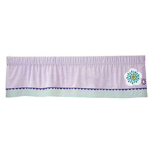 Carter's Zoo Jungle/Safari Floral Window Valance, Lavender/Aqua/White (New Valance)