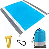 Beach Blanket, Beach Mat Outdoor Picnic Blanket Large Sand Free Compact for 7 Persons Water Proof and Quick Drying Beach Mat Mady by Premium Nylon Pocket Picnic Sheet for Outdoor Travel (78