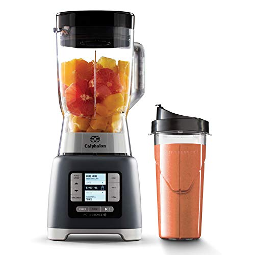 Calphalon 2099742 ActiveSense 2 Liter Blender with Blend N Go Smoothie Cup, Gray
