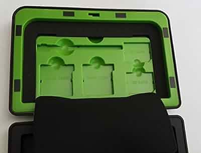 Amazon com: NINTENDO 3DS 3DS XL Vault Case (Green Trim) for 1st