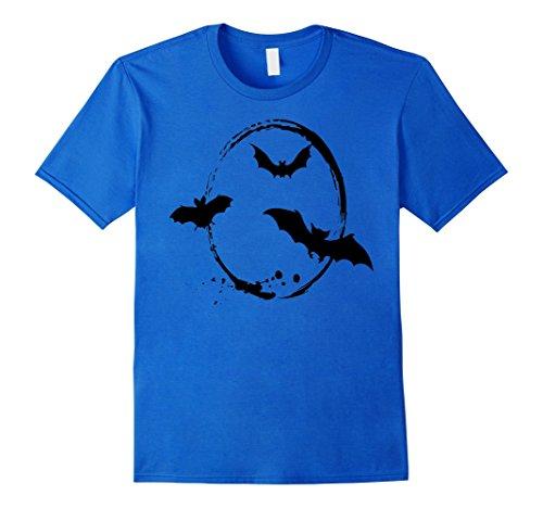 Men's Halloween Bats Seasonal Holiday Animal T-Shirt Vampire Medium Royal Blue
