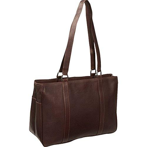 Piel Leather Medium Shopping Bag, Chocolate, One Size -
