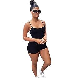 Jumpsuit,SMTSMT Women's Strap Beach Shorts Jumpsuit Rompers Bodysuit
