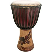 "Hand-carved Djembe Drum From Africa - 13""x24"" - Drum Circle Village"