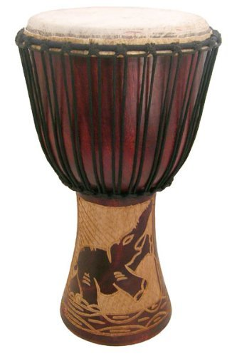 (Hand-carved Djembe Drum From Africa - 11