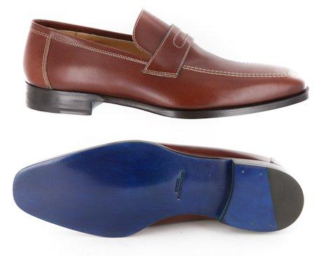 Nuevo Sutor Mantellassi Caramel Brown Zapatos 7.5 / 6.5