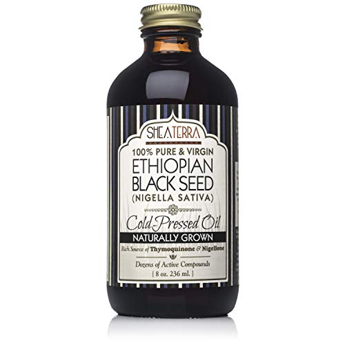 Shea Terra Organics Naturally Grown Ethiopian Black Seed Cold Pressed Extra Virgin Oil | All Skin Types - 8 oz ()