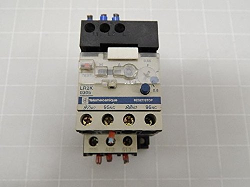 ''Telemecanique LR2K0305 RELAY, OVERLOAD, MINIATURE, CLASS 10, 0.54 TO 0.8 AMPS''