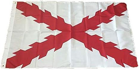Gemelolandia Bandera de la Cruz de San Andres Aspa de Borgoña 90 ...