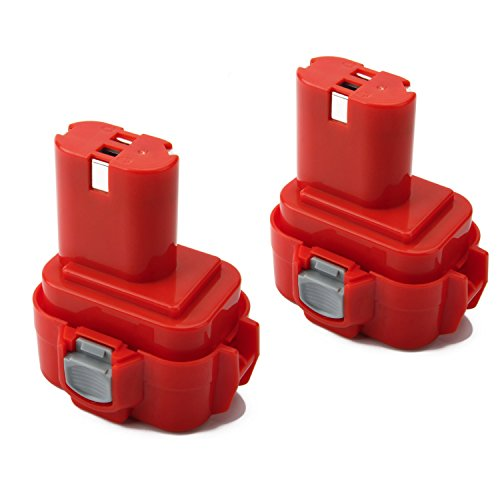 Creabest New 2 Packs 3.0Ah Ni-MH 9.6V Replacement Battery Compatible with Makita PA09 9100 9120 9122 9133 9134 9135 9135A 9.6V NI-MH Battery Pack