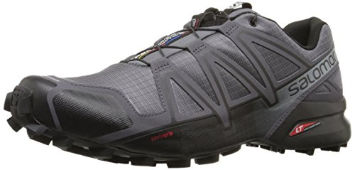 Pearl Grey Footwear (Salomon Men's Speedcross 4 Trail Runner, Dark Cloud/Black/Pearl Grey, 10 D)