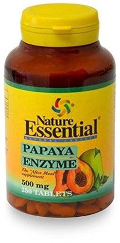 Papaya Enzima 250 comprimidos de 500 mg de Nature Essential: Amazon ...