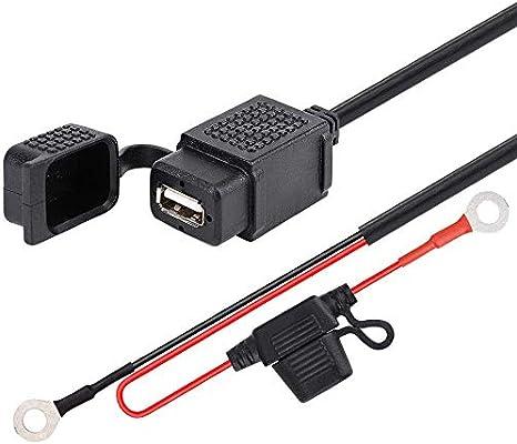 Sonline Spina per Presa Accendisigari Impermeabile con Alimentatore 2 Attacco USB