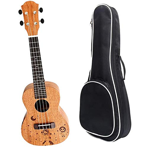 - Ukuleles 23 Inches Traditional Concert Ukulele Mahogany Wood Uke Hawaii Kids Small Guitar With Gig Bag For Kids Students Beginners Musical Instrument Gifts Astronaut Pattern Suitable for players, adul