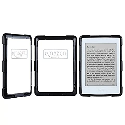 Amazon Kindle Paperwhite Case, Jeccy Shock-Absorption Bumper and Anti-Scratch Clear Back Cover (Fits All versions: 2012, 2013, 2014 and 2015 All-new 300 PPI (Waterproof Kindle Voyage Case)
